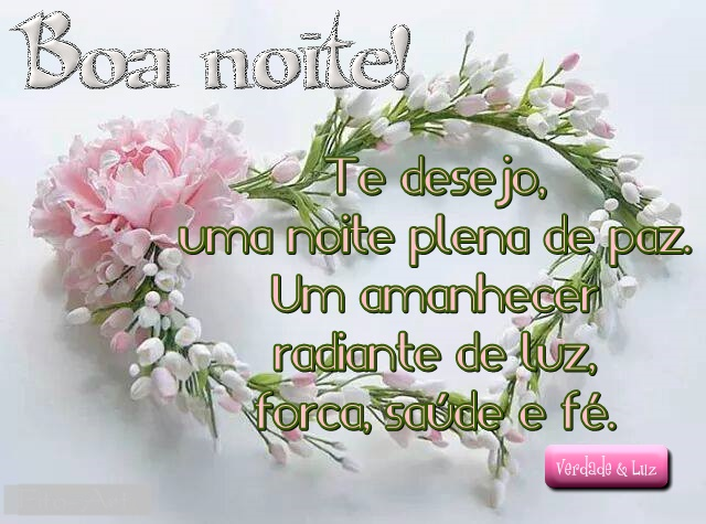 Flores E Frases Boa Noite: Foto Boa Noite Muita Luz Muita Paz E Muito Amor O