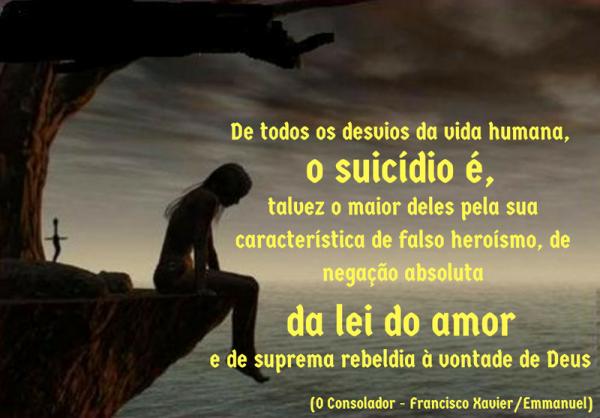 suicídio é