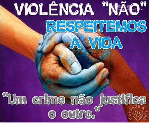 violência não