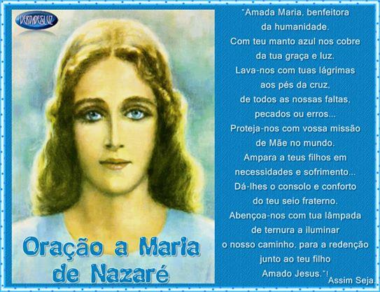 oração a maria de nazaré