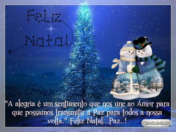 Feliz Natal PAZ e Alegria