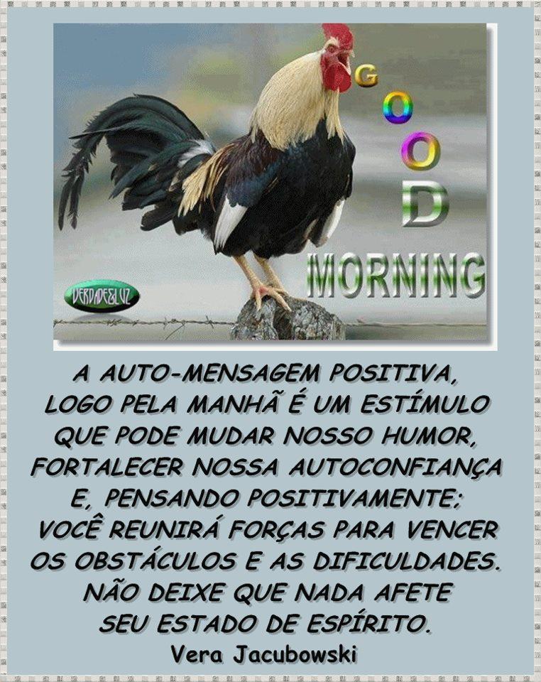 A Auto-Mensagem Positiva Logo Pela Manhã