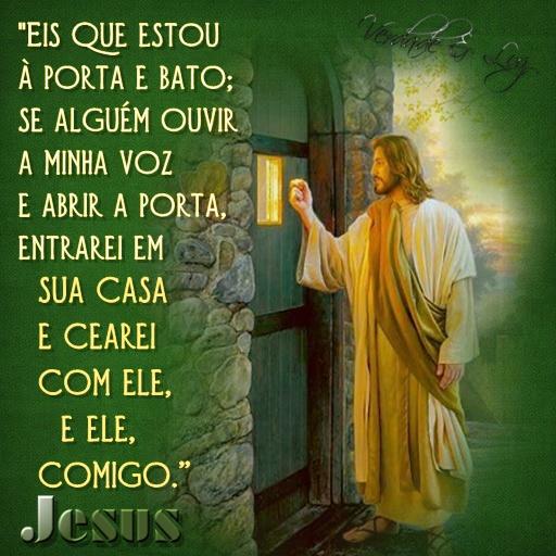 Eis que estou porta e bato se algu m ouvir jesus for Jesus a porta