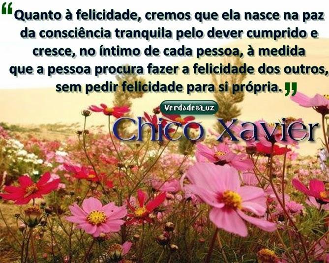FELICIDADE CHICO XAVIER