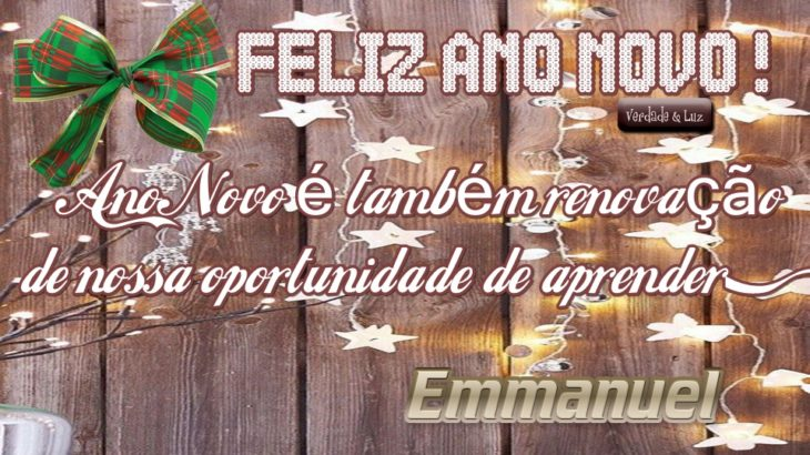 Ano Novo é também renovação de nossa oportunidade de aprender
