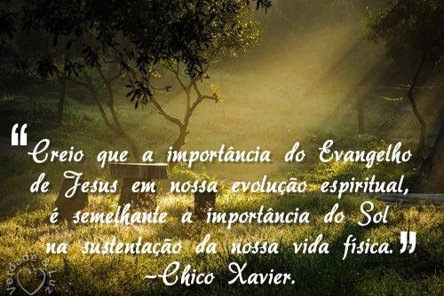 IMPORTÂNCIA DO EVANGELHO CHICO XAVIER