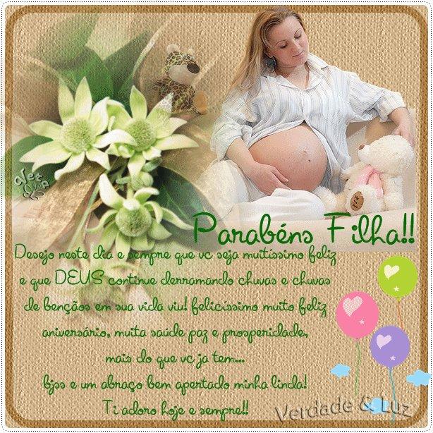 Parabéns Filha Pelo Dia do Seu Nascimento