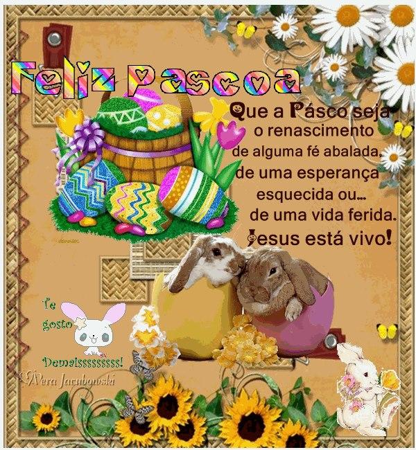 Feliz Páscoa Jesus está Vivo