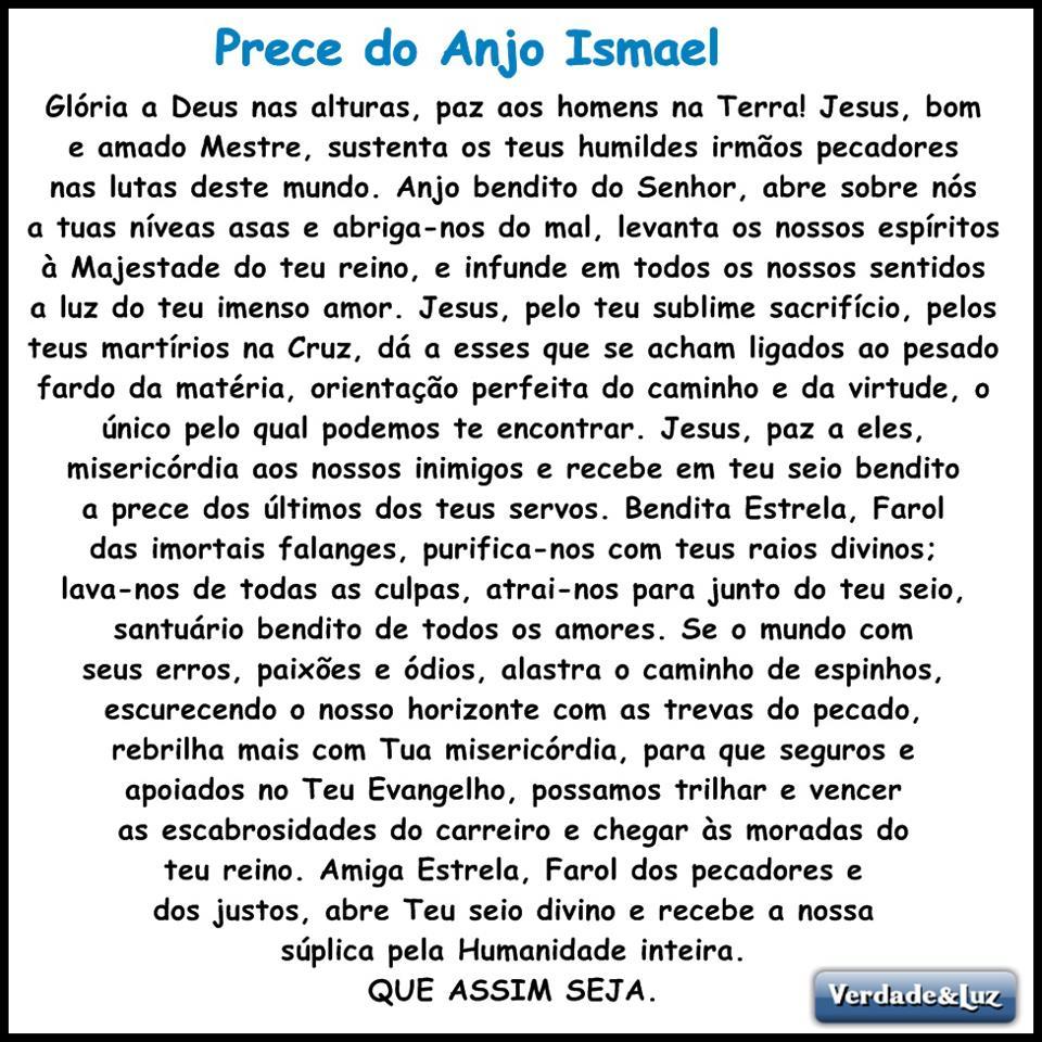 Favoritos prece do anjo ismael - Verdade Luz KM63