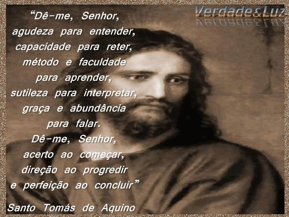 Oração São Tomás De Aquino Verdade Luz