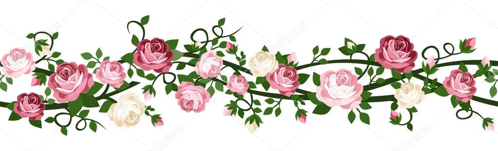 barra de rosas rosas