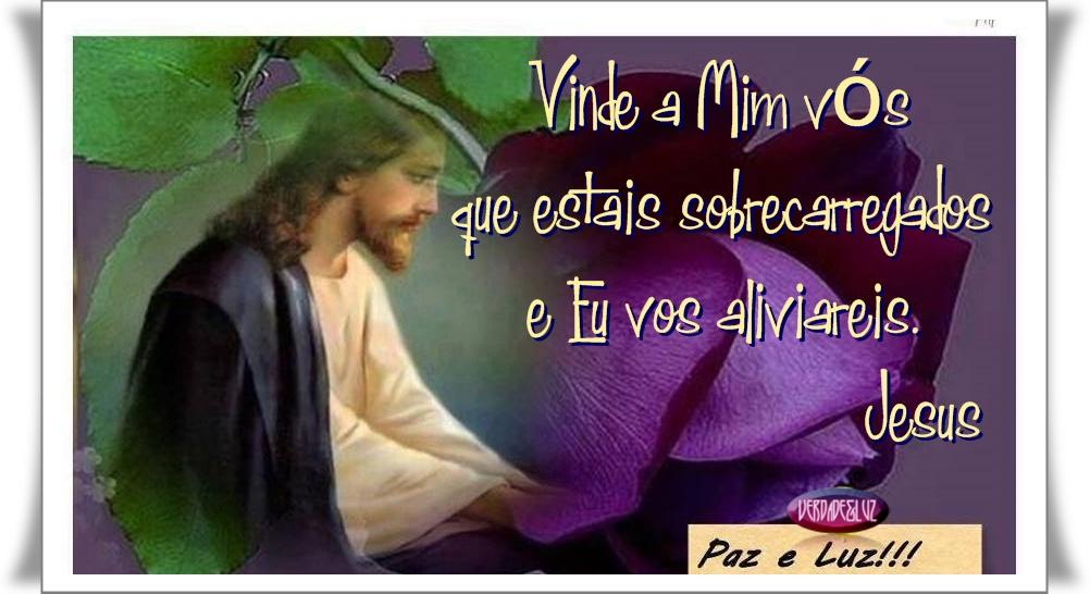 sobrecarregados e aflitos Jesus