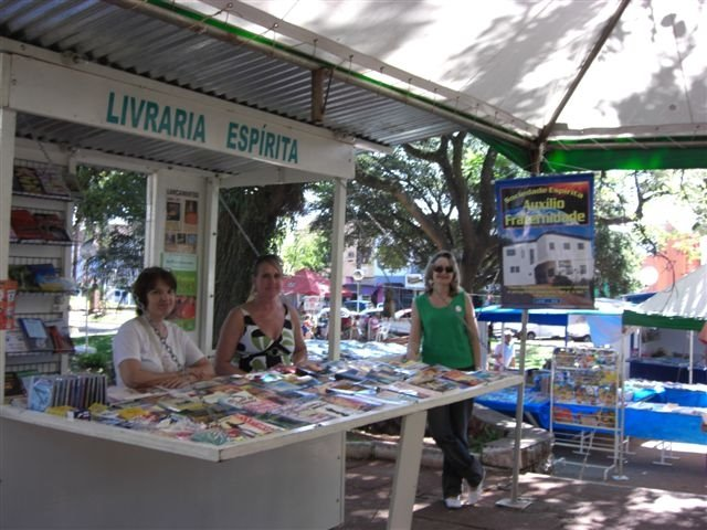 livraria espírita na praça