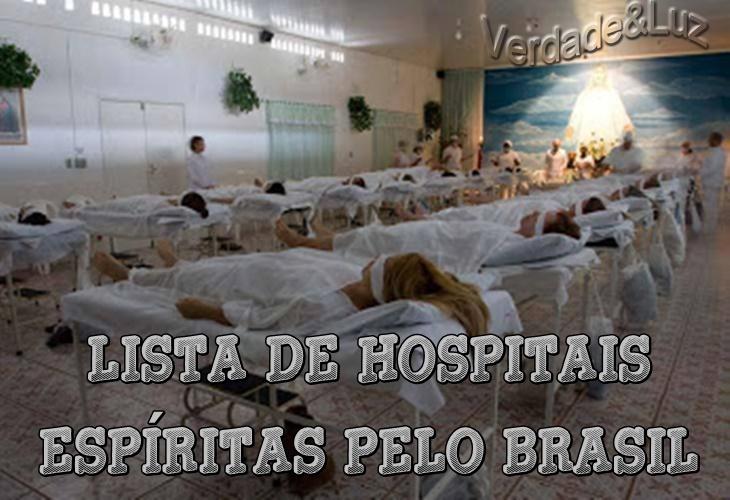 LISTA DE HOSPITAIS ESPÍRITA