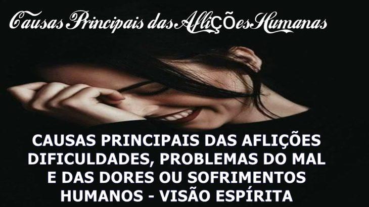 CAUSAS PRINCIPAIS DAS AFLIÇÕES VISÃO ESPÍRITA